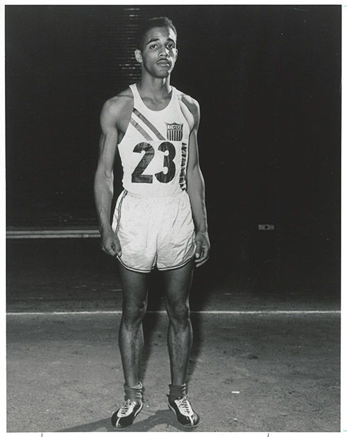 "Boys Town graduate Charles ""Deacon"" Jones competes in the 1956 Olympic Games in Melbourne, Australia, finishing ninth in the 3,000-meter steeplechase. Four years later, he would finish seventh in the same event in the Rome Olympics."