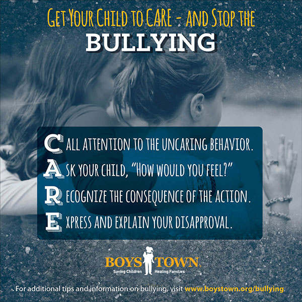 Teach your child to care and stop the bullying