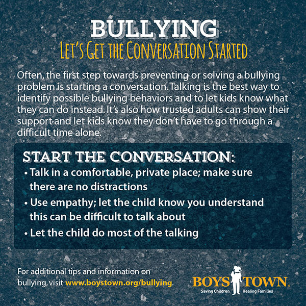 Bullying: Let's get the conversation started