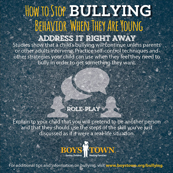 How to stop bullying behavior when they are young