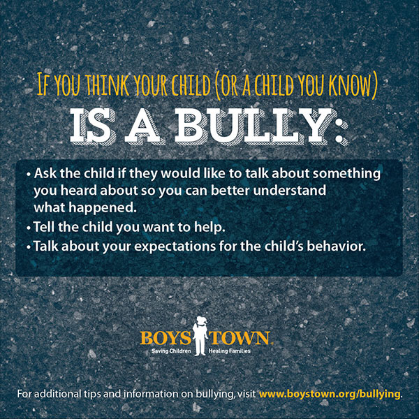 Do you think your child is a bullying?