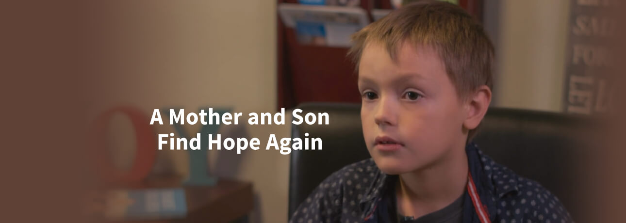 Mother and Son find Hope - Jonathan