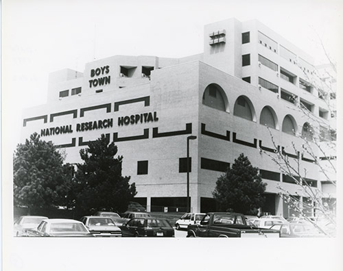 1977: The Boys Town Institute of Communication Disorders in Children (later renamed Boys Town National Research Hospital®) opens near downtown Omaha.
