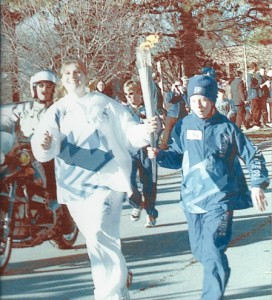 2002, Mayor Amanda Martinez runs with Olympic Torch (1)