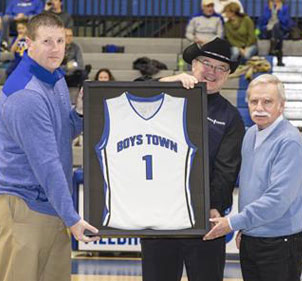 Boys Town honors longtime sponsor, Godfather's Pizza