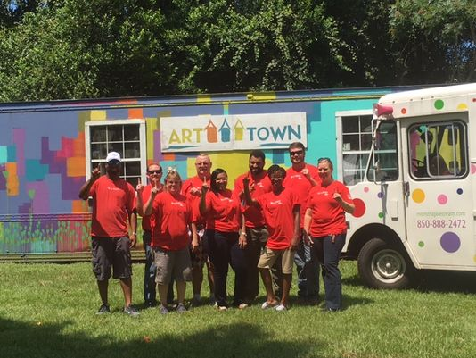"Volunteers helped Boys Town North Florida check off several needed items from its ART Town playground ""wish list""."