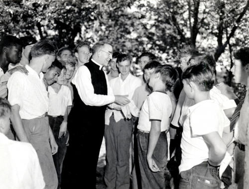 Father Flanagan with Boys in 1942
