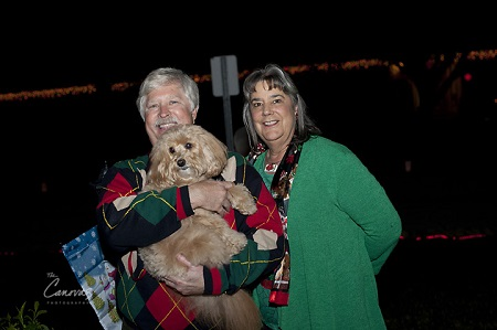 Buster and Tisa Wible with Maizie at the Christmas Tree Lighting