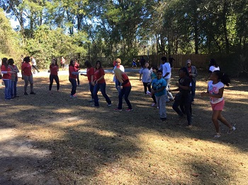 North Florida youth and Wells Fargo volunteers