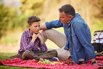 Father son picnic