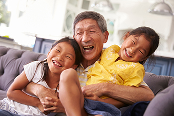 grandkids laughing